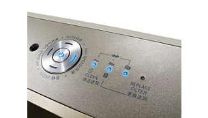 Turbo 模式能以最高速度立即清淨空氣
