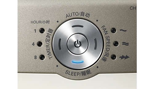 Sleep mode cleans silently with dimmed indicators