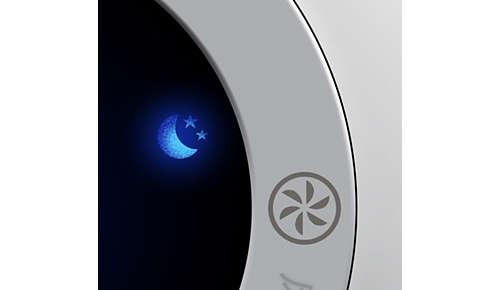 In modalità sleep pulisce in maniera silenziosa con spie luminose attenuate