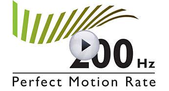 200Hz Perfect Motion Rate (PMR) voor superscherpe actiebeelden