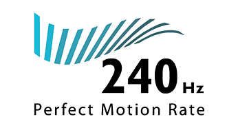 Perfect Motion Rate (PMR) de 240 Hz: máxima nitidez de movimientos