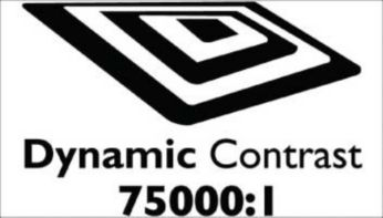 """""""Dynamic contrast 75000:1 for incredible rich black details"""