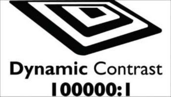 """""""Dynamic contrast 100000:1 for incredible rich black details"""