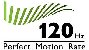 """""""120Hz Perfect Motion Rate (PMR) for superb motion sharpness"""