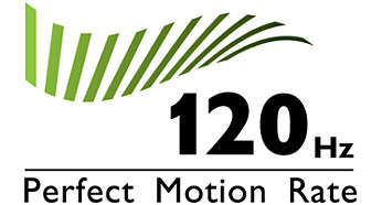 """120Hz Perfect Motion Rate (PMR) for superb motion sharpness"