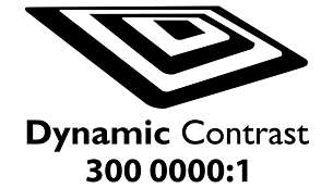 """""""Dynamic contrast 3000000:1 for incredible rich black detail"""