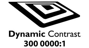"""Dynamic contrast 3000000:1 for incredible rich black detail"