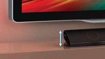 Благодаря невысокому корпусу устройство можно поместить перед телевизором