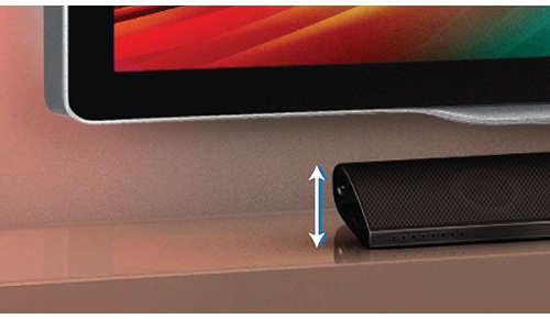 Laag profiel voor de perfecte pasvorm vóór uw TV
