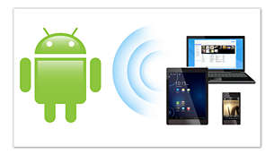 Works with all Android™ DLNA phones and tablets