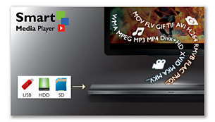 Integrated Smart Media Player to play all your media files