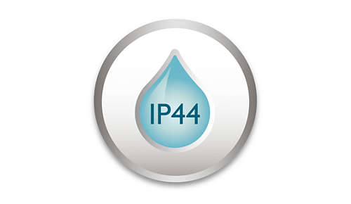 IP44 - weerbestendig voor gebruik binnenshuis en buitenshuis