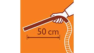 Достигайте до всички ъгли благодарение на удължената ергономична дръжка