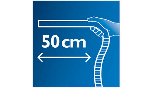 Bereik ook de kleinste hoekjes dankzij de extra lange ergonomische handgreep