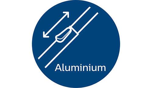 Komfortabel og let takket være det lette aluminiumsrør