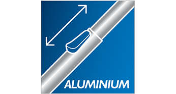 Un nettoyage confortable grâce au tube en aluminium léger