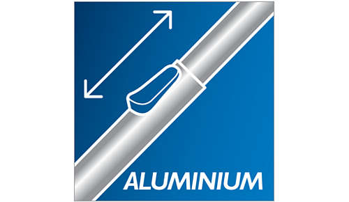 Komfortable Reinigung dank des leichten Aluminiumrohrs