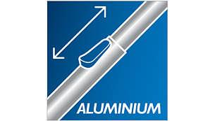 Schoonmaken wordt comfortabeler met de lichtgewicht aluminium buis