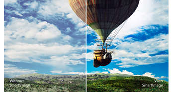 SmartImage pre-sets for easy optimised image settings