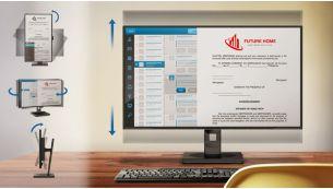 """""""SmartErgoBase"""" suteikia galimybę patogiai sureguliuoti monitorių"""