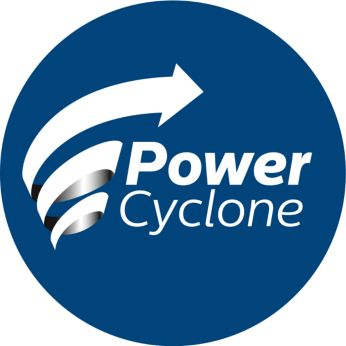 PowerCyclone technology separates dust and air in one go