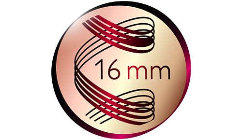 16mm Durchmesser für lebendige Locken voller Sprungkraft
