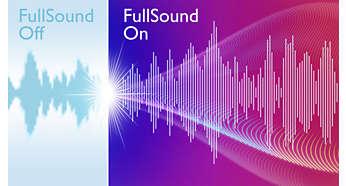 Technologie FullSound accentuant les basses et la clarté