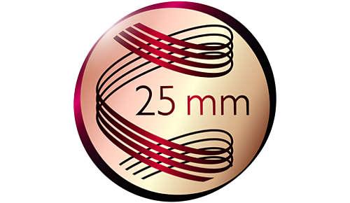 Tang van 25 mm voor natuurlijk uitziende krullen