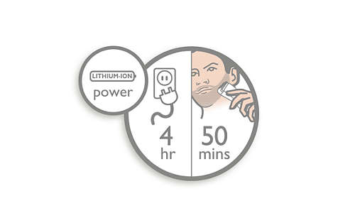 50mins' cordless power after 4hours' charge