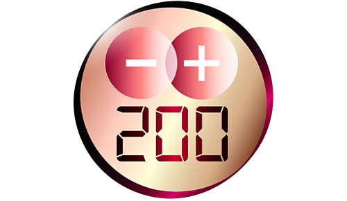 Täydelliset muotoilutulokset 200°C:n lämpötilalla