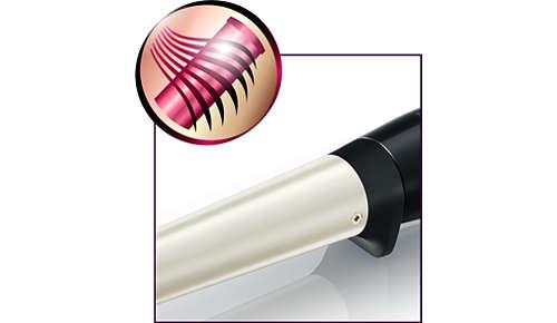 Keraaminen SilkySmooth-pinnoite tekee hiuksistasi kaksin verroin pehmeämmät