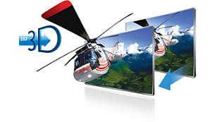 Nyd 2D-indhold i fejlfri 3D ved et tryk på en knap