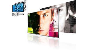 Micro Dimming Premium dimrar LED-segment för bästa möjliga kontrast