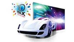 3D Max Clarity 1000 för en flimmerfri 3D-upplevelse i Full HD