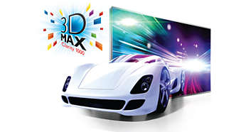 3D Max Clarity 1000 for a flicker-free Full HD 3D experience