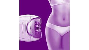 Capa redutora para áreas sensíveis e peles delicadas