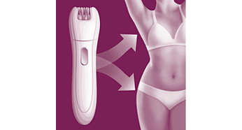 Precision epilator gently removes hair in sensitive areas