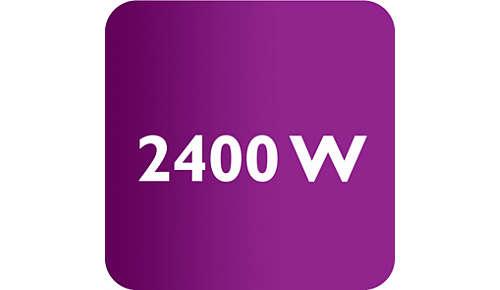 Fer à repasser d'une puissance de 2400W pour une montée en température rapide et de hautes performances