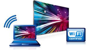Inbyggd Wi-Fi för trådlös användning av Smart TV