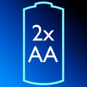 Cordless 2AA battery shaver