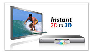 Instant 2D to 3D conversion for a lifelike movie experience