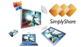SimplyShare para conectar y transmitir todo el entretenimiento sin cables