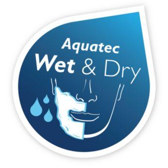 Aquatec:使用清爽泡沫濕式剃鬚,或使用簡便的乾式剃鬚