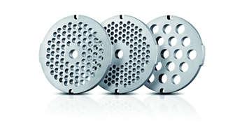 3 решетки для фарша из нержавеющей стали (3, 5, 8 мм)
