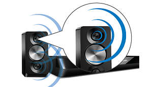 Powerful speakers with double basspipes for great sound