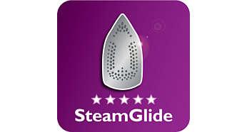 Die neue SteamGlide-Bügelsohle ist Philips Premium-Bügelsohle