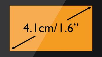 """Snadno čitelný displej 4,1cm (1,6"""") soranžovým podsvícením"""