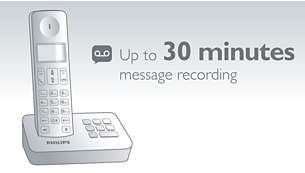 Up to 30 min. message on your answering machine