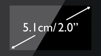 """Fácil de leer, pantalla blanco/negro de 5,1cm (2,0"""")"""
