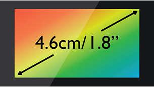 """Цветной TFT-дисплей высокой контрастности 4,6см (1,8"""")"""